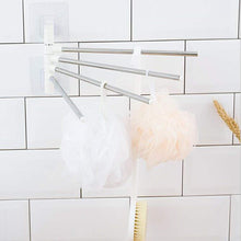 Load image into Gallery viewer, 4 Bars Stainless Steel Towel Rack with Wall Stick Adhesive Pads for Kitchen Bathroom.