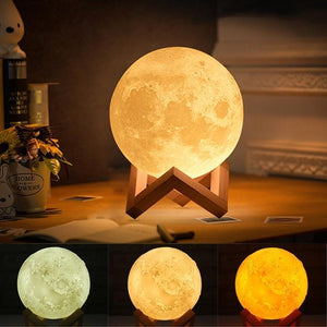 3D Moon Lamp India/Moon Shaped Lamp/Led Moon Lamp/Lunar Moonlight Lamp - Multi Color