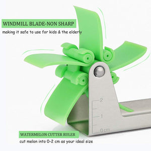 Stainless Steel Washable Watermelon\Muskmelon Cutter Windmill Slicer Cutter Peeler
