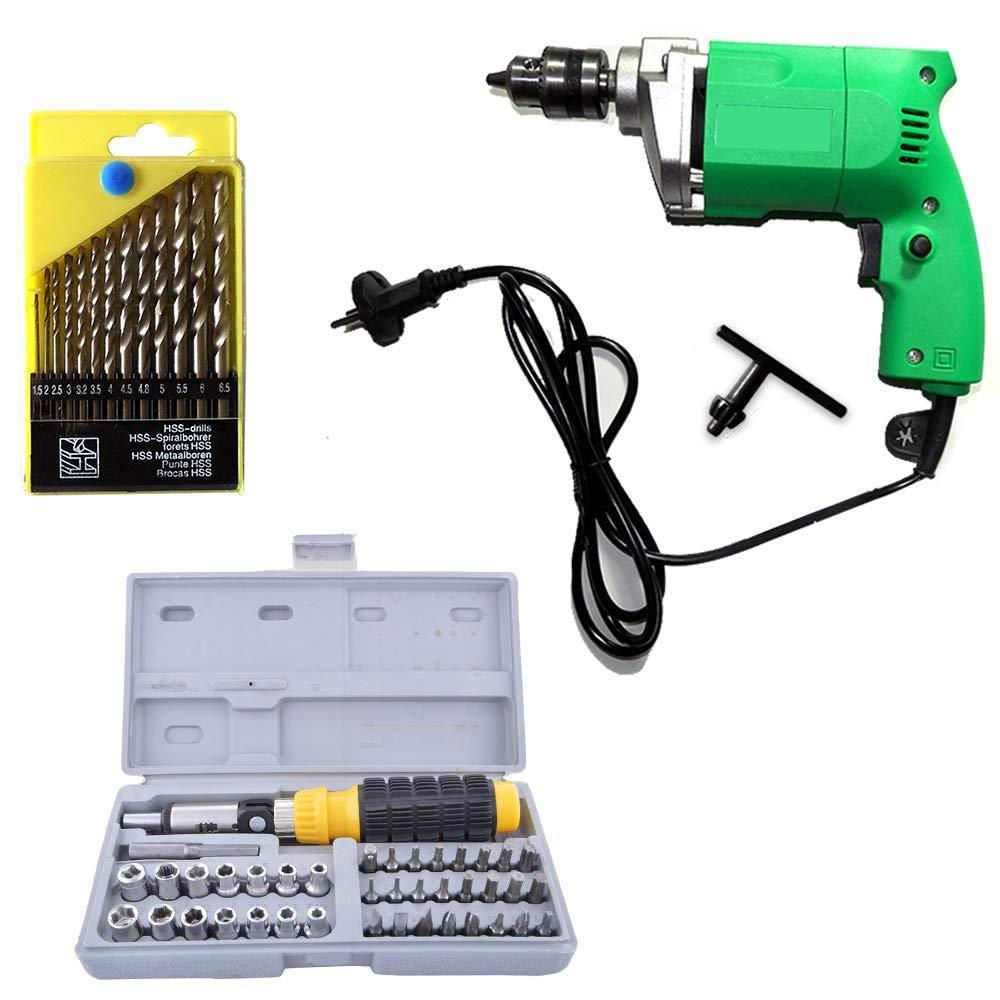 HomefyShop Metal Power Tool Kit (Multicolor, 55-Pieces)