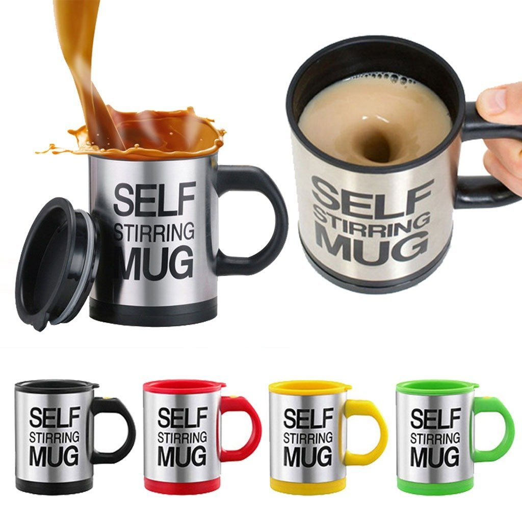 Automatic Stainless Steel Coffee Mixing Blender Self Stirring Mug