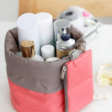 Load image into Gallery viewer, CZ03--Cotton and Nylon Bucket Barrel Round Shaped Cosmetic Makeup Travel Pouch Organizer