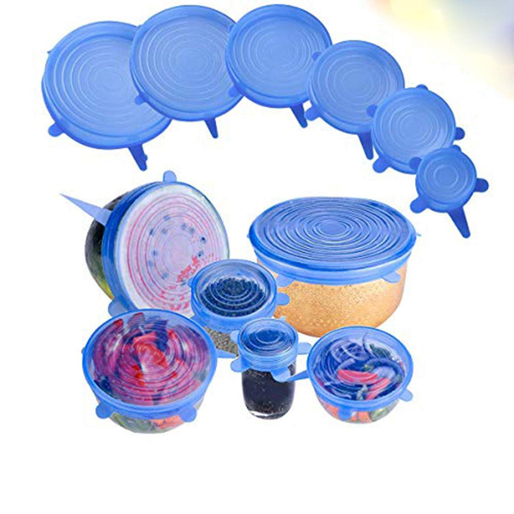 Stretchable & Flexible Silicone LIds Cover for Dish,Jars & Bowls (Set of 6)