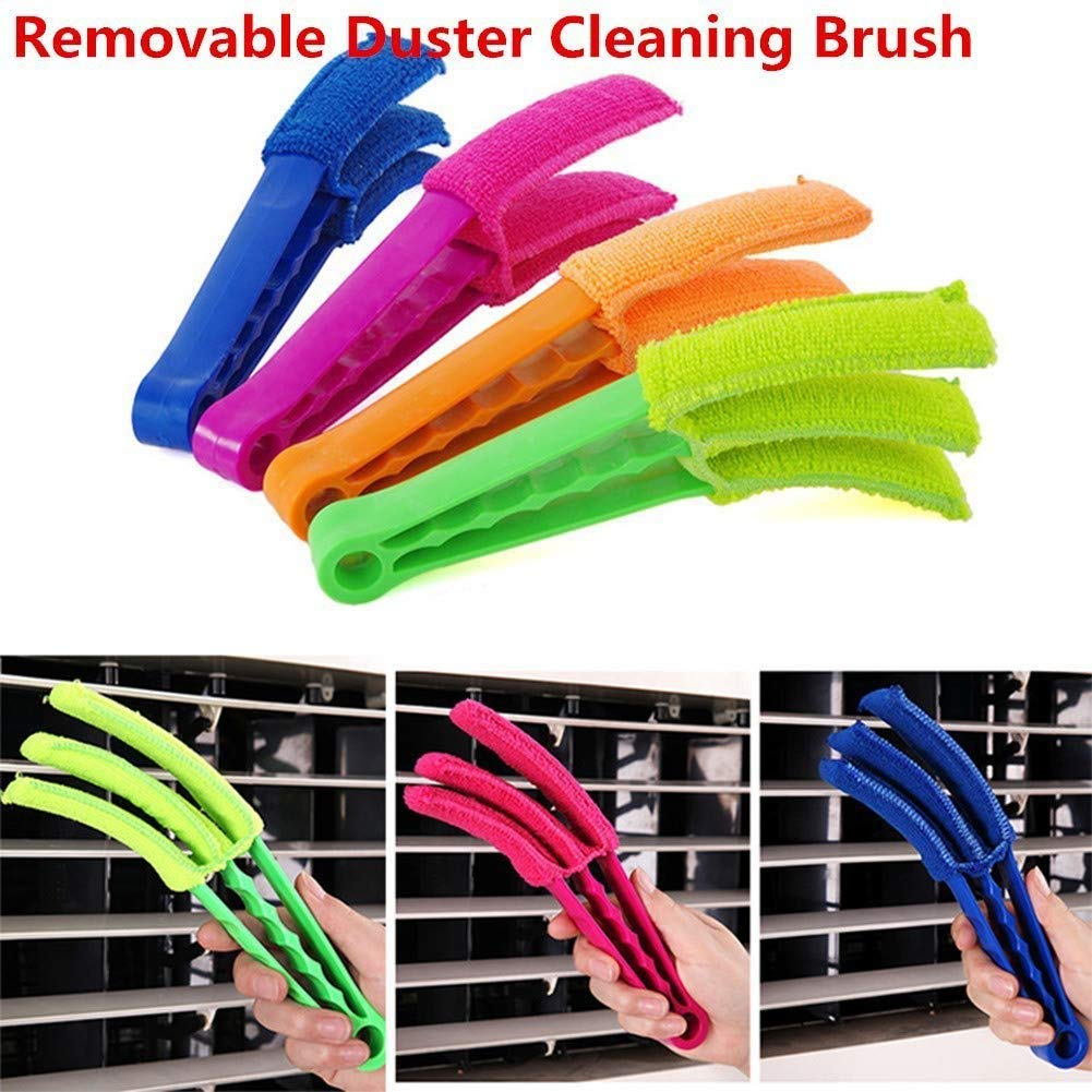 CZ13  Microfiber Window Duster Set, Cleaning Brush, Portable Handle ABS Material