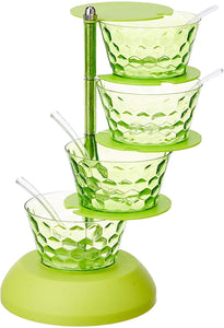 2141 4 in 1 Multipurpose 360 Degree Rotating Pickle Rack Container for Kitchen