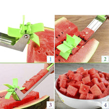 Load image into Gallery viewer, Stainless Steel Washable Watermelon\Muskmelon Cutter Windmill Slicer Cutter Peeler