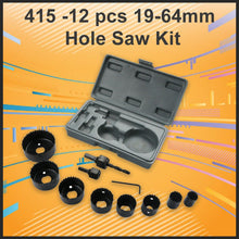 Load image into Gallery viewer, 415 -12 pcs 19-64mm Hole Saw Kit