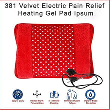 Load image into Gallery viewer, 381 Velvet Electric Pain Relief Heating Gel Pad