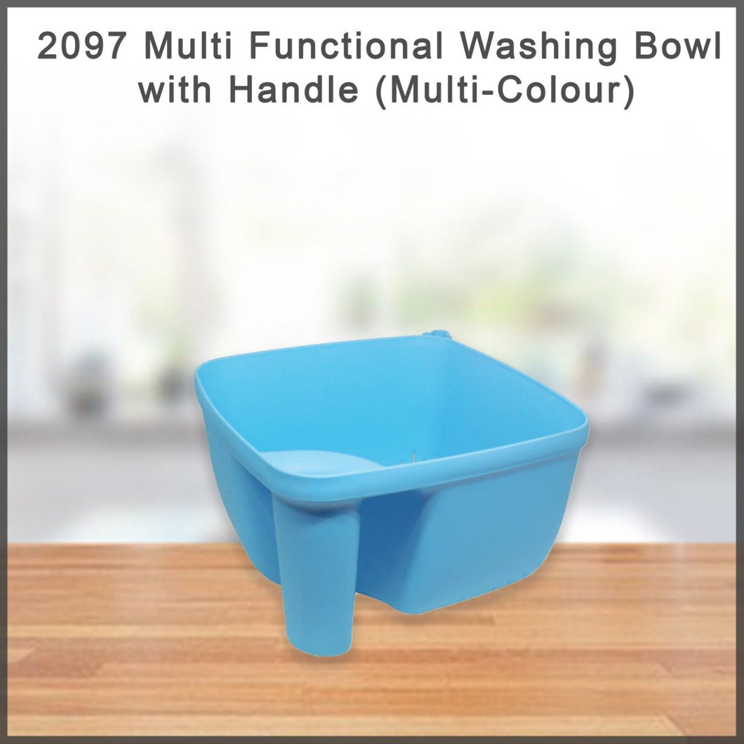 2097 Multi Functional Washing Bowl with Handle (Multi-Colour)