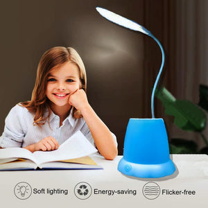1256 Desk Lamp with Pen Holder Table Lamp with Pencil Stand for Home Office