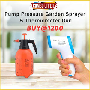 Combo Offer - Pump Pressure Garden Sprayer and Thermometer Gun