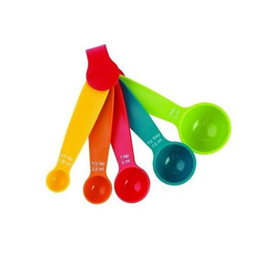 0730 Plastic Measuring Spoons - Set of 5