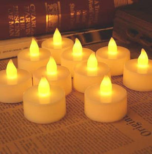 1222  Festival Decorative - LED Tealight Candles (White, 24 Pcs)