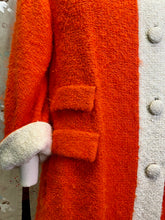 Load image into Gallery viewer, Vintage 1960s Coat • Orange Mohair Asymmetrical Over Coat • Small