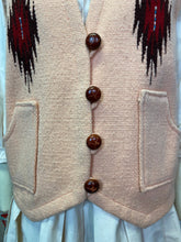 Load image into Gallery viewer, Vintage 1950s Vest • Peach Chimayo Western Vest with Pockets • Medium/Large