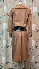 Load image into Gallery viewer, Vintage 1950s Suit • Light Brown Striped Summer Suit with Oversized Belt • Small