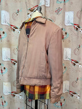 Load image into Gallery viewer, Vintage 1950s Jacket • Gabardine Light Brown Quilted Ricky Jacket • Men's Small