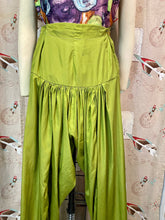 Load image into Gallery viewer, Vintage Lounge Pants • Green Gathered Ladies Lounge Pants • Small Medium