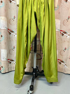 Vintage Lounge Pants • Green Gathered Ladies Lounge Pants • Small Medium