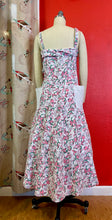 Load image into Gallery viewer, Vintage 1950s Dress • Cute Waffle Weave Cotton Fruit Print Sun Dress with Pockets • Large