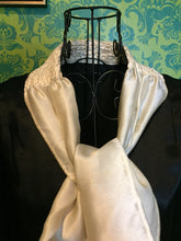 Load image into Gallery viewer, Vintage 1920s Dress • Black Silk White Ascot Day Dress • Small to Medium