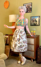 Load image into Gallery viewer, Vintage 1950s Skirt • Western Novelty Print Skirt • Extra Small