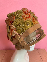 Load image into Gallery viewer, Vintage 1920s Hat • Flapper Rose Velvet Cut Out Cloche Formal Hat