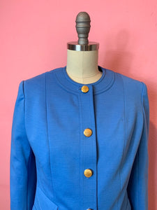 Vintage 1970s Blazer • Pan Am Stewardess Uniform Designed by Edith Head • Medium