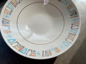 Vintage 1960s Bowl • Taylor Smith Taylor Moderne Starburst Serving Bowl • One
