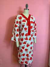 Load image into Gallery viewer, Vintage 1950s Pajama Top • Cotton Novelty Print Naughty Monkey Heart Nughr Shirt • Medium