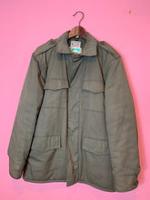 Load image into Gallery viewer, Vintage 1950s Coat • Army Green Utility / Outdoors / Camping Insulated Jacket • Size 38
