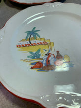 Load image into Gallery viewer, Vintage 1930s Plates • Homer Laughlin Mexicana Desert / Appetizer Plates • Set of 4