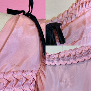 Vintage 1930s Dress • Pink Taffeta Puff Princess Sleeve Gown • Extra Small // Small