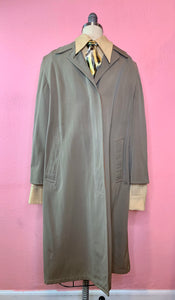 Vintage 1940s Coat • Classic Gentlemen's Private Dick Gabardine Trench Coat • Small