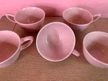Load image into Gallery viewer, Vintage 1950s Cups • MCM Monterrey Pink Speckled Tea & Coffee Cups • Set of 5