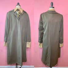 Load image into Gallery viewer, Vintage 1940s Coat • Classic Gentlemen's Private Dick Gabardine Trench Coat • Small