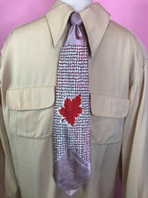 "Load image into Gallery viewer, Vintage 1940s Tie • Art Deco Leave and Geometric Design • 50"" Long"