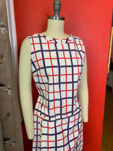 Load image into Gallery viewer, Vintage 1960s Romper • Red White & Blue Mod Romper or Tennis Outfit • Large