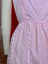 Load image into Gallery viewer, Vintage 1960s Dress • Pink Gingham Cotton Day Dress by Lanz • Small