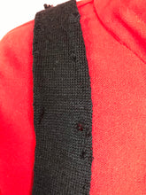 "Load image into Gallery viewer, Vintage 1950s Tie • Black Wool Necktie • Childs 41"" Long"