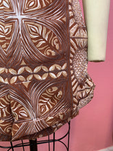 Load image into Gallery viewer, Vintage 1940s Shorts • Brown Tiki Hawaiian Tropical Print Shorts • Extra Small
