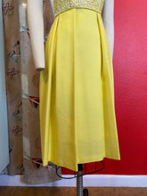 Load image into Gallery viewer, Vintage 1950s Dress • Yellow Soutache Linen Day Dress • Extra Small