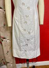 Load image into Gallery viewer, Vintage 1960s Dress • White Cotton Edwardian Lace Inspired Day Dress • Large