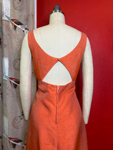 Load image into Gallery viewer, Vintage 1960s Dress • Metallic Peach Cut Out Dress • Medium