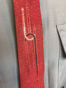 "Vintage 1950s Mens Necktie • Brick Red Colored Rayon Tie • 54"" Long"