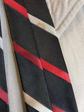 "Load image into Gallery viewer, Vintage 1950s Mens Tie • Diagonally Striped Necktie • 53"" Long"