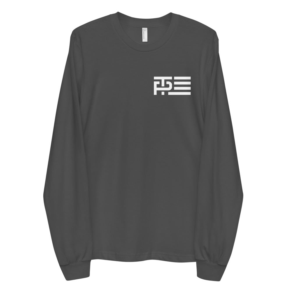 White Classic Icon Men's Long Sleeve