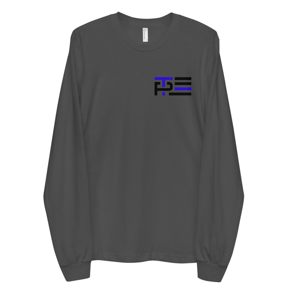 Blue Line Icon Men's Long Sleeve