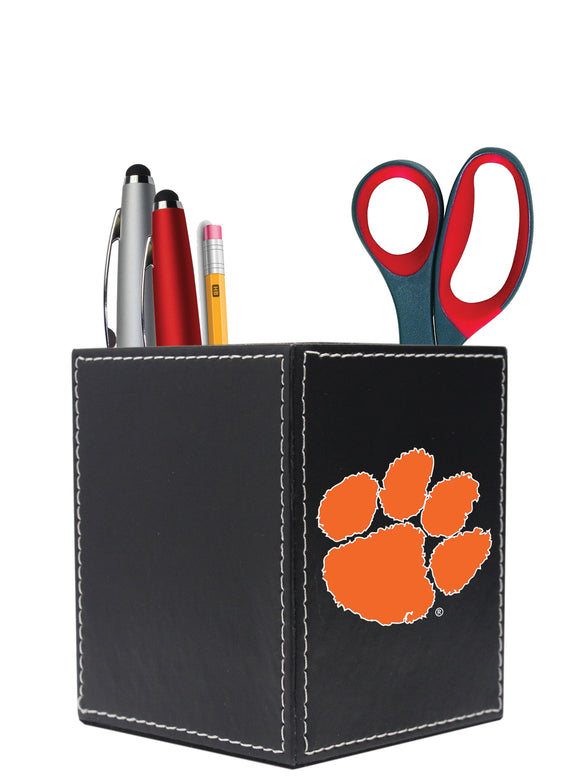 Clemson University Square Desk Caddy - Primary Logo