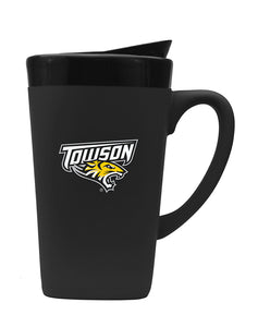 Towson 16oz. Soft Touch Ceramic Travel Mug - Primary Logo